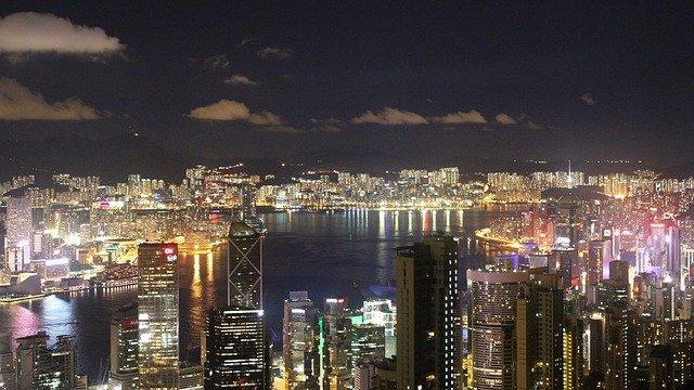 pohled na Hongkong